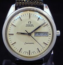VINTAGE MEN 1970 OMEGA AUTOMATIC DAY& Q-DATE SEAMASTER REF.166 WATCH SERVICE 750