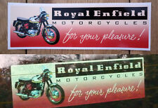 "ROYAL ENFIELD Motorcycles Oblong Advert Car STICKER 6.5"" Bike Classic Toolbox"