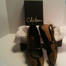 Women's Cole Haan Nike Air Leopard Print Mary Jane Flats Shoes 8.5 B