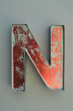 FANTASTIC LARGE RED METAL LETTER N WALL LETTER SHOP ADVERTISING SIGN FONT
