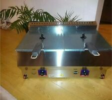 Double Gas deep fat fryer 2x5 L Propane Gas