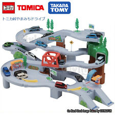 GENUINE TAKARA TOMY TOMICA Mountain Road Drive High Speed Curve Scene Car Set