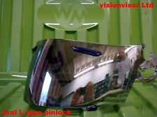 Pinlock Aftermarket ARAI Silver Mirror L Type Visor Viper GT Rapide Chaser SAL