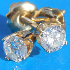 Sparkly .64 Carat Round Brilliant Diamond Earrings on 14K W Gold