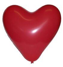"""100 Rosso a forma di cuore LATTICE PALLONCINI 12 """"Qualità Elio"""