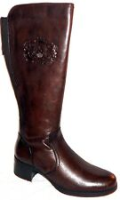 NEW BUSSOLA STYLE VAL BROWN LEATHER KNEE HIGH RIDING BOOTS EU 39, 8.5 - 9 M
