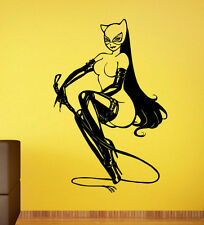 Catwoman Wall Vinyl Decal Sticker Comics Superhero Atr Home Wall Decor (006cw)