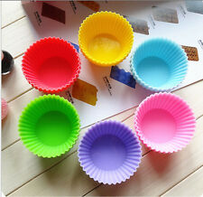 6PCS Muffin Silikon Back Form Förmchen Cupcake Backen Küchenhelfer multicolor