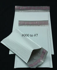 "500 PCS 4x7"" #000 Poly Bubble Mailer Sealing Envelope Protective Packing Bag"