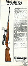1967 Savage Model 340-V 30-30 Rifle Gun Print Ad