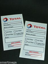 TOTAL Oil Change Service Reminder Sticker Set of 2