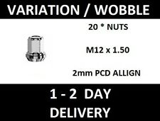 20 ALLOY WHEEL NUT Rotating Variation Wobbly M12 x 1.50 5x108 to 5x110 PCD HUB
