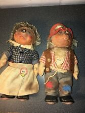 VINTAGE STEIFF HEDGEHOGS MICKI AND MECKI FROM GERMANY VINTAGE CONDITION