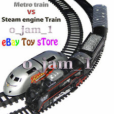 Electronic Metor Train VS Steam Locomotive Train Toy Good Gift 4 Birhtday kids