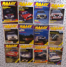 Rally Sport Magazine 1984 complete collection, all 12 issues. May split