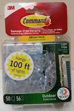 Command Clear Small Outdoor Holiday Light Clips (50-Clips) (56-Adhesive Strips)