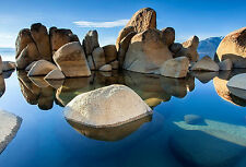 Framed Print - Rocky Mountain Rock Pool (Picture Poster Scenic Water Stone Art)