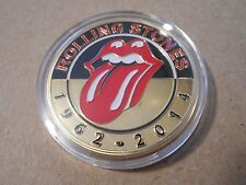 Rolling Stones Commemorative Gold Plate and Enamel Coin