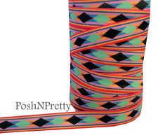 Tribal 3 Yards 5/8 Print Fold Over Elastic FOE - Style A