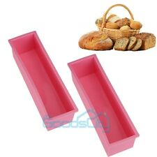 X2 L Rectangle Brick Soap Pastry Toast Bread Loaf Cake Silicone Mold Bakeware