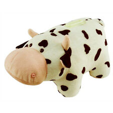 Cow Plush Coin Bank NEW Toys Stuffed Plushie Puzzled Animal