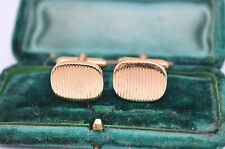 Vintage yellow metal cufflinks with an Art Deco style #C601