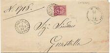 P5851   Verona, VILLAFRANCA, annullo numerale a sbarre 1881