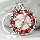 Creative Spinning Russian Roulette Keychain Keyring Key Chain Ring Key Fob 86040