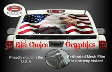 American Flag Eagle Rear Window Graphic Decal Sticker Truck Car SUV