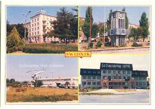 Postcard Postkarte Ansichtskarte ŚWIDNIK - Helicopter Werk / PKO / Bank (Lublin)