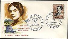 1971 - Maria Grazia Deledda - n.1158 - Busta  FDC