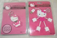 HELLO KITTY USB Hub & 4GB USB Flash Drive Mac & PC Compatible FREE SHIPPING!