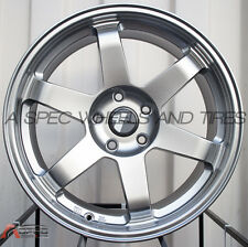 18X8 AVID.1 WHEELS AV-06 5X114 +35 HYPER BLACK RIM FITS MITSUBISHI ECLIPSE