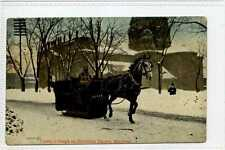 (Gr737-176) Super Carters Horse Sleigh, MONTREAL, Canada 1908 Used G-VG