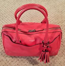 Authentic Coach LEGACY HALEY SATCHEL In Bright Coral & Silver