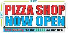 PIZZA SHOP NOW OPEN Banner Sign NEW Larger Size Best Quality for The $$$