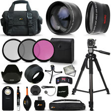 Xtech Kit for Nikon D5100 Optimal 21 Piece w/ Lenses + Case + Tripod + MORE