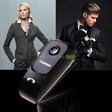 Wireless Retractable Bluetooth 4.0 Handfree Collar Clip Headset For iPhone LG