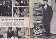 Coupure de presse Clipping 1954 Roberto Benzi (2 pages)