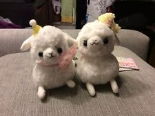 Set of 2 Authentic Amuse Arpakasso Alpacasso 12cm Let's Party white boy & girl