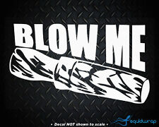 """Blow Me Duck Call Funny Hunting Birds Car Decal / Laptop Sticker - WHITE 5"""""""