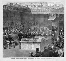 DISRAELI MAKING HIS FIRST SPEECH AS PREMIER IN ENGLISH HOUSE OF COMMONS, HISTORY