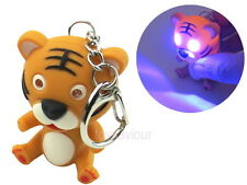 Tiger Key Chain with LED Light and Animal Sound