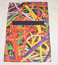 BNWT Hollister Multicoloured Cable Print Travel Tech Pouch RRP £15