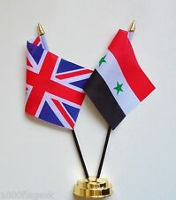 United Kingdom & Syria Double Friendship Table Flag Set