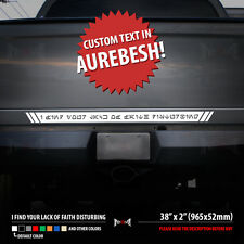 YOUR TEXT IN AUREBESH Jedi Language Star Wars Geek Car Body Vinyl Sticker Decal