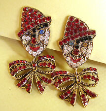 866 /  BOUCLES D'OREILLE CLIPS 'CLOWNS""