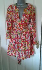 LADIES CUTE DESIGNER TED BAKER FLORAL DRESS SIZE 3 36 INCH CHEST