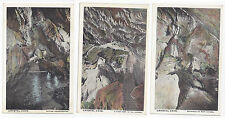 PA Kutztown Crystal Cave Nature Underground Cavern 3 Different Vintage Postcards