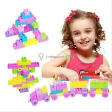 46Pcs Plastic Children Kid Puzzle Educational Building Blocks Bricks Toy Animal